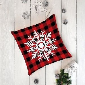 Holiday Snowflake Pillow Civer